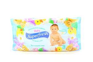 Салфетки влажные для детей и мам Ромашка Baby Superfresh 72шт