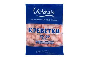 Креветки неразобранные глазированные 70/90 Veladis в/м м/у 1000г