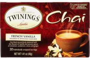 Twinings Of London Chai Tea French Vanilla - 20 CT
