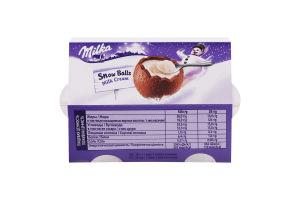 Шоколад молочний з кремовою молочною начинкою фігурний Snow Balls Milka к/у 112г