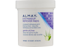 Almay Eye Makeup Remover Pads Gentle Oil Free - 80 CT