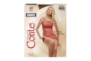 Колготы женские Conte Nuance 40den 4-L bronz