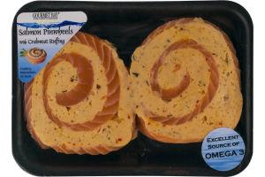 Gourmet Bay Salmon Pinwheels with Crabmeat Stuffing - 2 CT