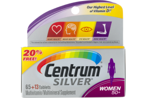 Centrum Silver Multivitamin Supplement Tablets Women 50+ - 78 CT