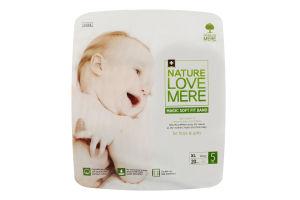 Подгузники для детей размер 5 12кг Magic soft fit band NatureLoveMere 20шт