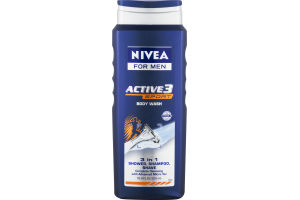 Nivea For Men Active 3 Sport Body Wash 3 in 1