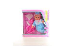 Пупс з посудом Maya Toys 86595