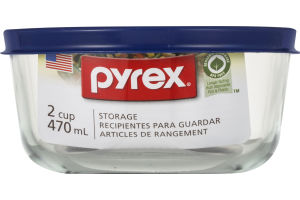 Pyrex Glass Storage with Lid 2 Cup