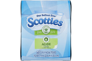 Scotties Aloe 3-Ply Facial Tissue - 60 CT