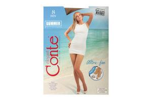 Колготи жіночі Conte Summer multifibra 8den 3-M natural
