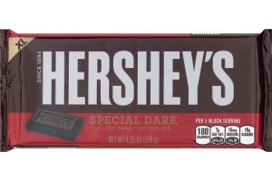 HERSHEY'S SPECIAL DARK Mildly Sweet Chocolate Extra Large Bar, 4.25-Ounce Bars