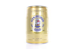 Пиво 5л 4.8% светлое Flensburger Gold ж/б