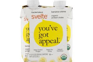 CalNaturale Svelte Organic Protein Banana Creme - 4 PK