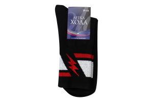 Шкарпетки чоловічі Легка хода №6347 25 чорний