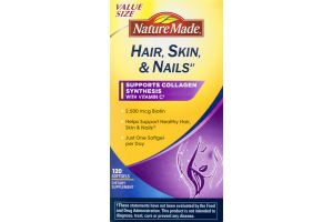 Nature Made Hair, Skin & Nails Dietary Supplement Softgels - 120 CT