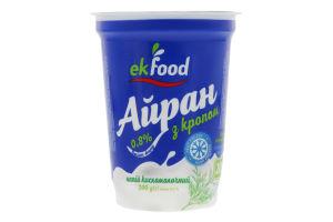 Напиток кисломолочный 0.8% с укропом Айран Ekfood cт 200г
