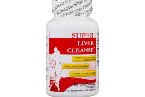 Super Liver Cleanse Step 2 Capsules Herbal Supplement with Vitamins - 90 CT
