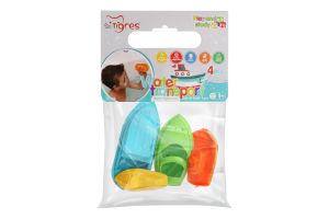 Набор игрушек для детей от 12мес для купания №39546 Water transport Tigres 1шт