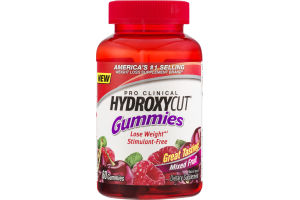 Pro Clinical Hydroxycut Gummies Mixed Fruit - 60 CT