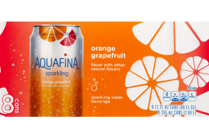 Aquafina Sparkling Orange Grapefruit - 8 CT