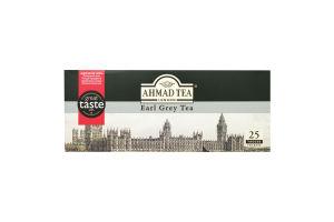 Чай чорний з ароматом бергамоту Earl Grey Ahmad Tea к/у 25х2г