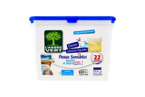 Капсулы для стирки белых и цветных вещей Peaux Sensibles L'arbre Vert 22шт