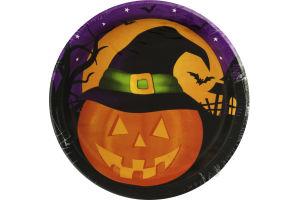 Smart Living Halloween Pumpkin Haunts 6 7/8in Plates - 8 CT