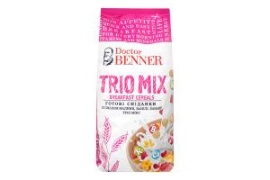 Завтрак готовый со вкусом малины ванили банана Trio Mix Doctor Benner м/у 150г