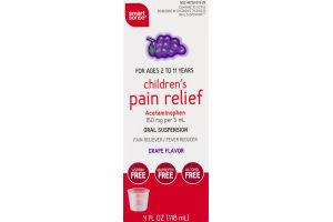 Smart Sense Children's Pain Relief Oral Suspension Grape Flavor