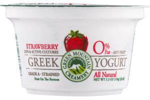 Green Mountain Creamery 0% Fat Greek Yogurt Strawberry