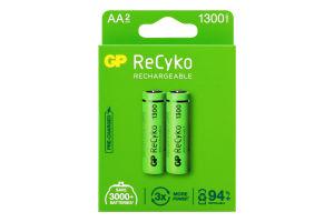Акумулятори AA 1300mAh №GP130ААНСЕ-2EB2 Recyko GP 2шт