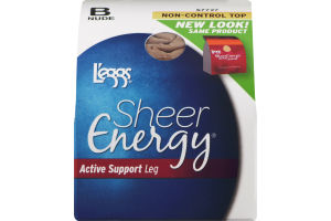 L'eggs Sheer Energy Active Support Leg Non-Control Top B Nude