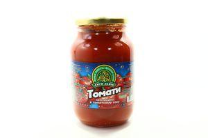 Томаты неочищенные в томатном соке Дари Ланів с/б 1000г