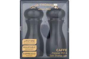 Olde Thompson Caffe Pepper Mill & Salt Shaker Set Espresso Finish - 2 CT