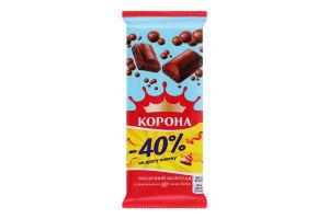 Шоколад молочний пористий Корона м/у 2х80г