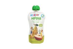 Пюре для детей от 4мес Груша-Яблоко Hippis Hipp 100г