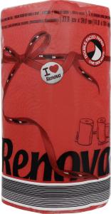 Полотенца кухонные Renova Red Label красные
