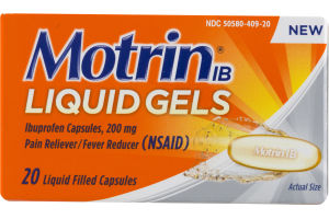 Motrin IB Liquid Gels - 20 CT