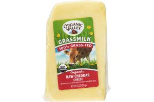 Organic Valley Grassmilk Raw Cheddar Cheese