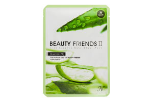 Маска для лица тканевая Aloe Beauty Friends 1шт