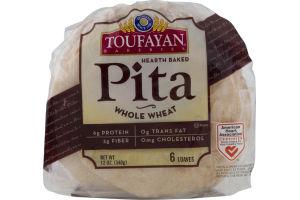 Toufayan Bakeries Pita Whole Wheat - 6 CT
