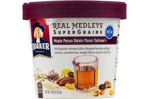 Quaker Real Medleys Super Grains Maple Pecan Raisin Flavor Oatmeal