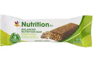 Ahold Nutrition Balanced Nutrition Bar Double Peanut
