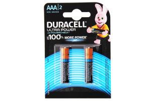 DURACELL Ultra Power AAA Бат. алкаліновi 1.5V LR03 2шт 2шт