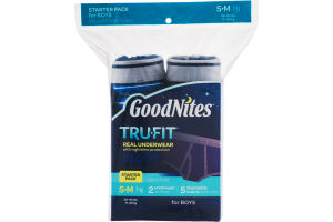 GoodNites TRU-FIT Real Underwear Starter Pack for Boys - S/M