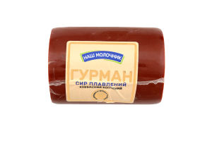 Сир плавлений 30% ковбасний копчений Гурман Наш молочник кг