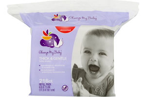Always My Baby Baby Wipes Thick & Gentle Unscented - 216 CT