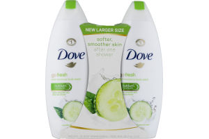 Dove Go Fresh Cool Moisture Body Wash Cucumber & Green Tea Scent - 2 CT
