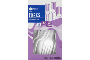 SE Grocers Heavy Duty White Forks - 48 CT