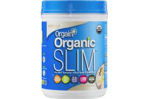Orgain Organic Slim Plant Based Protein Powder Vanilla